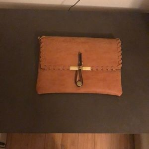 Urban Outfitters Tan Clutch Bag
